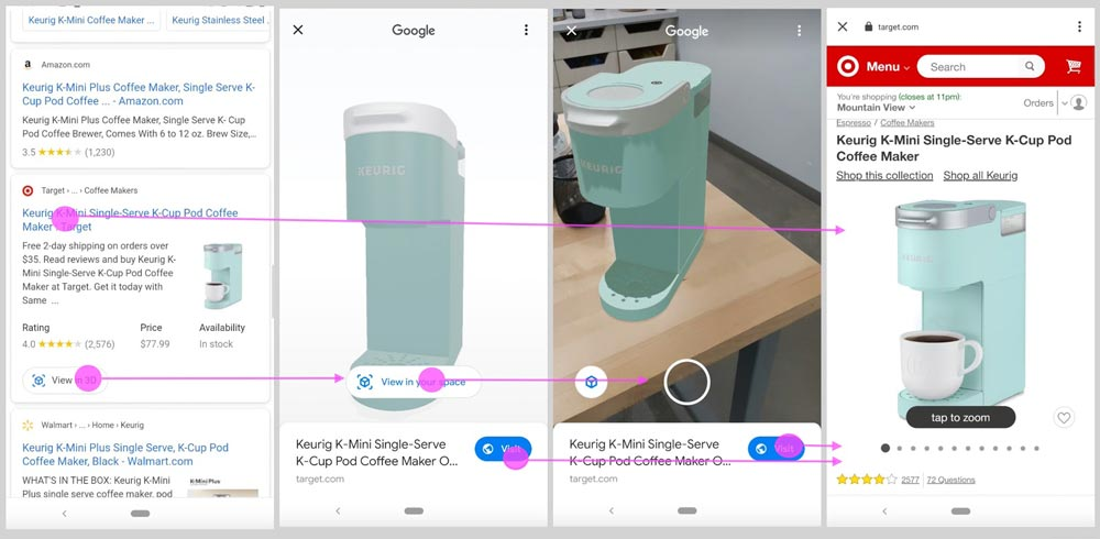 Google Augmented Reality Produktpräsentation